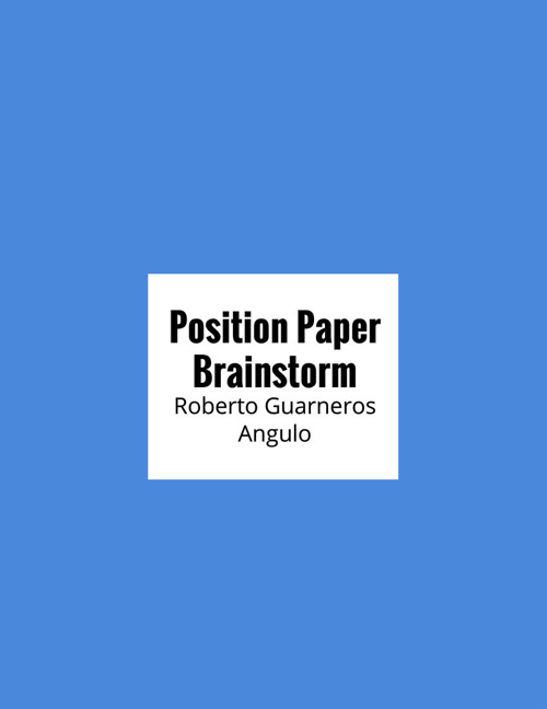 Position Paper Brainstorm