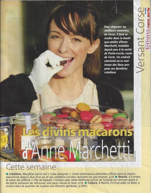 Femina décembre 2012 (n°559) - Les divins macarons d'Anne Marche