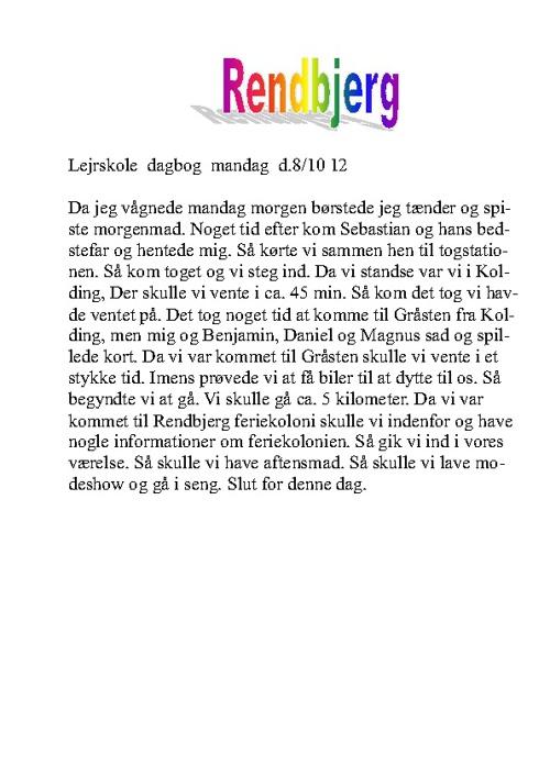 Dagbog Rendbjerg