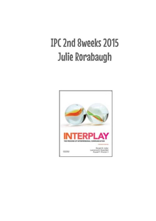 IPC 2nd 8 weeks Fall 2015