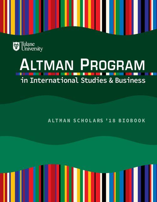 Altman Scholars '18 Bio Book