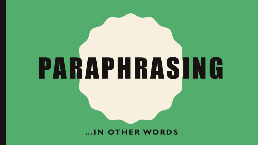 paraphrasing 2