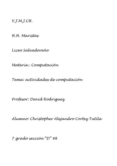 Documentos de computación