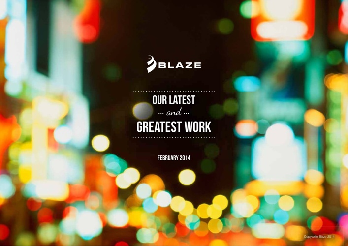 Blaze Agency Credentials