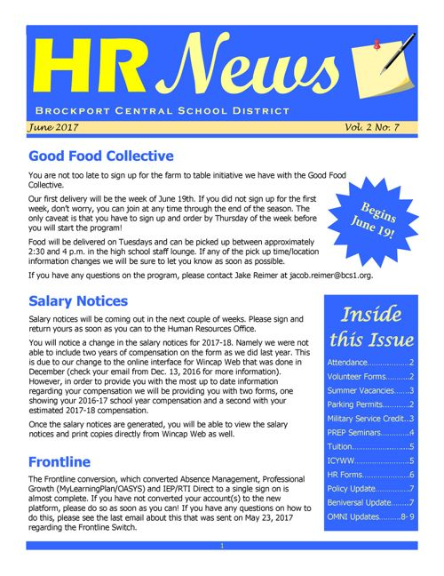 2017 June HR NEWS