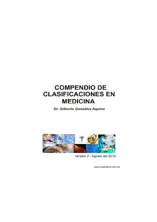 Compendio de Clasificaciones en Medicina