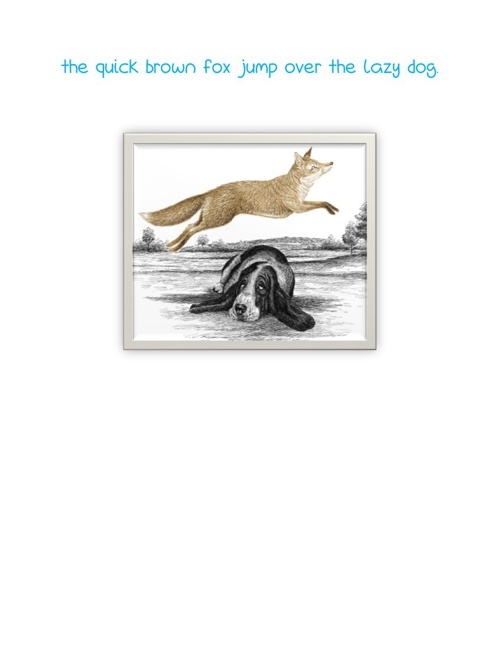 the quick brown fox jump over the lazy dog