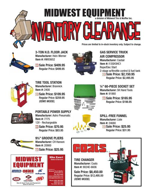 Midwest Equipment Clearance