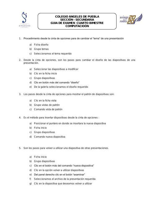 clave examen bimestra 4