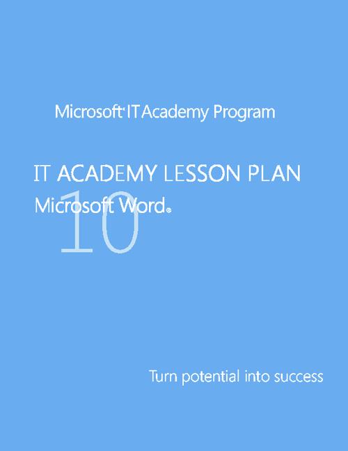 Microsoft Academy Word 2010