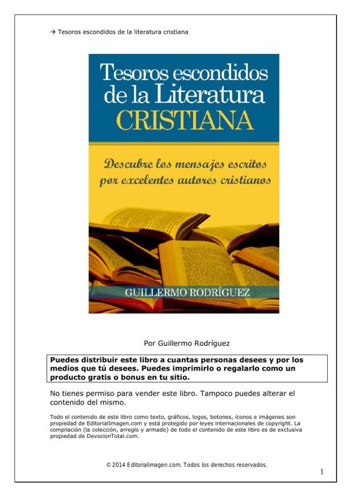 Tesoros Escondidos De La Literatura Cristiana