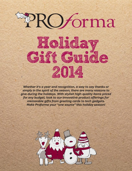 Proforma Holiday Gift Guide 2014 - Y