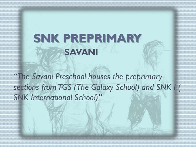 SNK PREPRIMARY