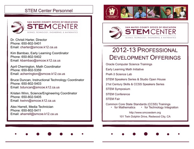 2012-13 STEM Center Professional Development