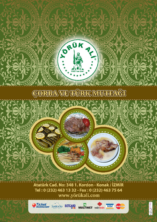 Yoruk Ali Türkçe Menü