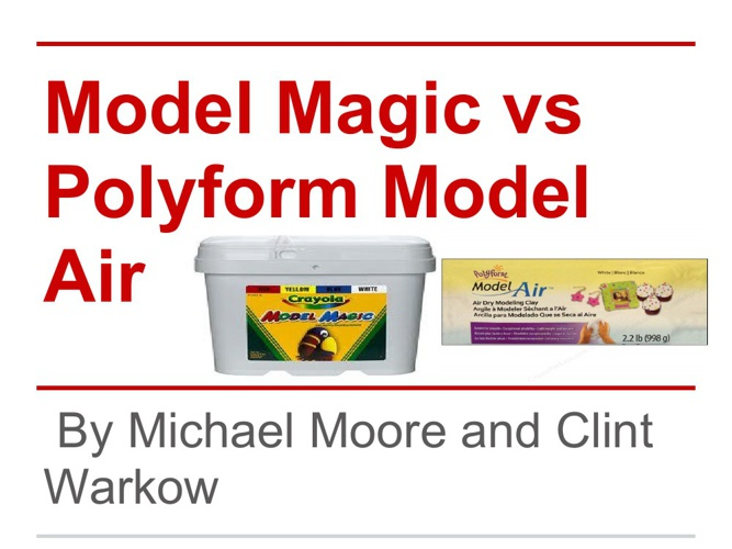 Model Magic vs Polyform Model Air. Battle of the Clays