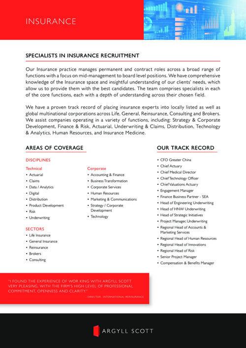 Argyll Scott - Insurance