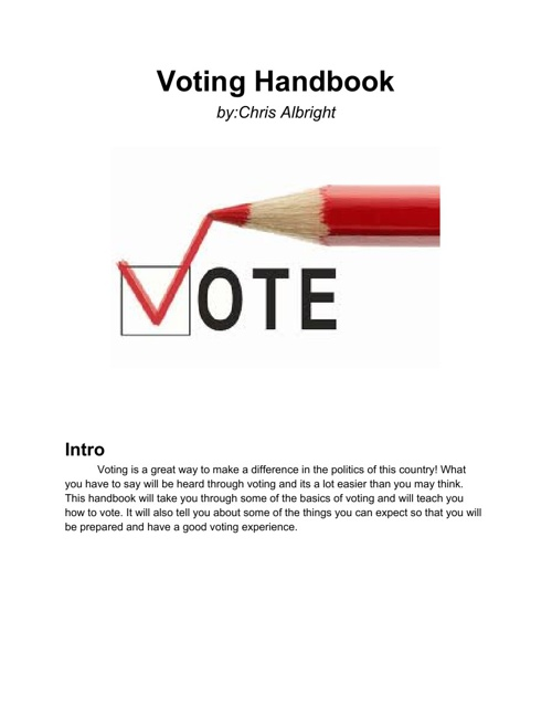 voting handbook chris albright