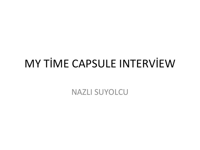 Nazli Old Istanbul Interview