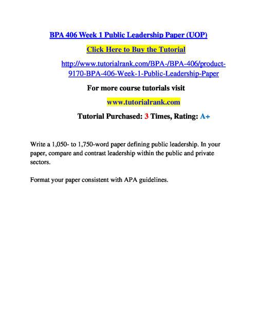 BPA 406 Course Success Begins / tutorialrank.com