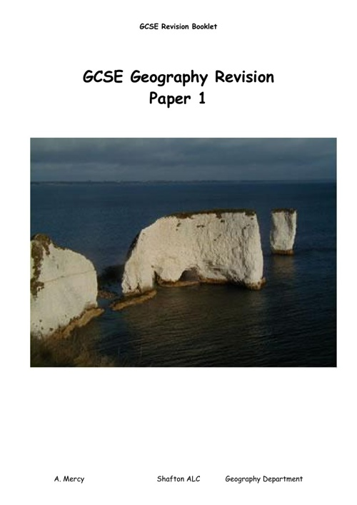 Geography revision booklet