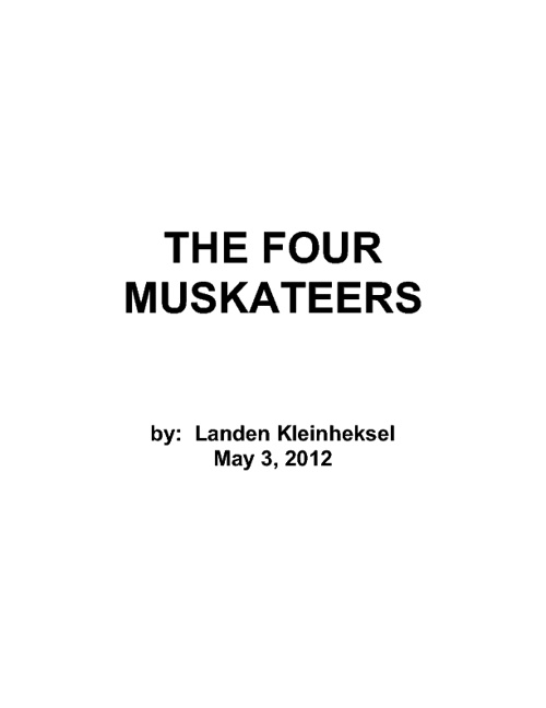 THE FOUR MUSKATEERS