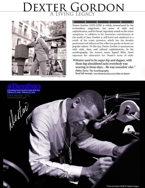 Dex@90: Dexter Gordon 90th Anniversary Project (2013-2014)