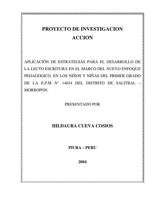 Proyecto de Investigacion Accion