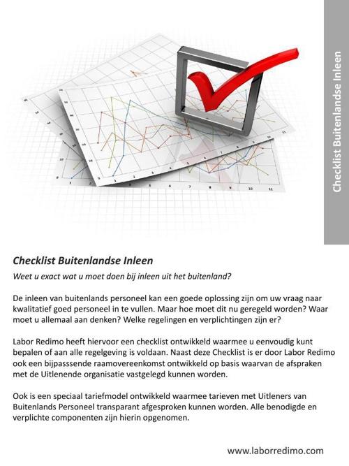 Labor Redimo - dienst- Checklist Buitenlandse Inleen