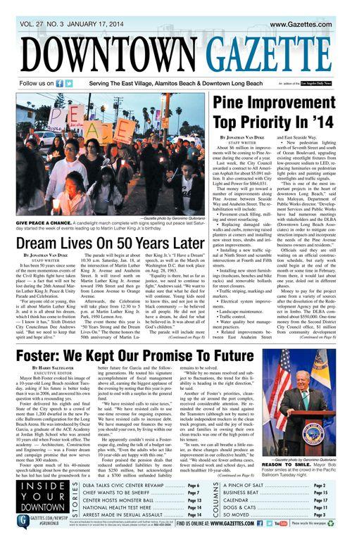 Downtown Gazette  |  January 17, 2014