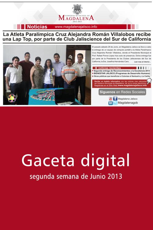 3 Gaceta informativa del Gobierno Municipal de Magdalena Jalisco
