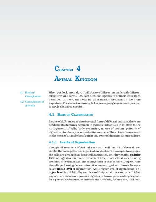 Ch 4. Animal kingdom