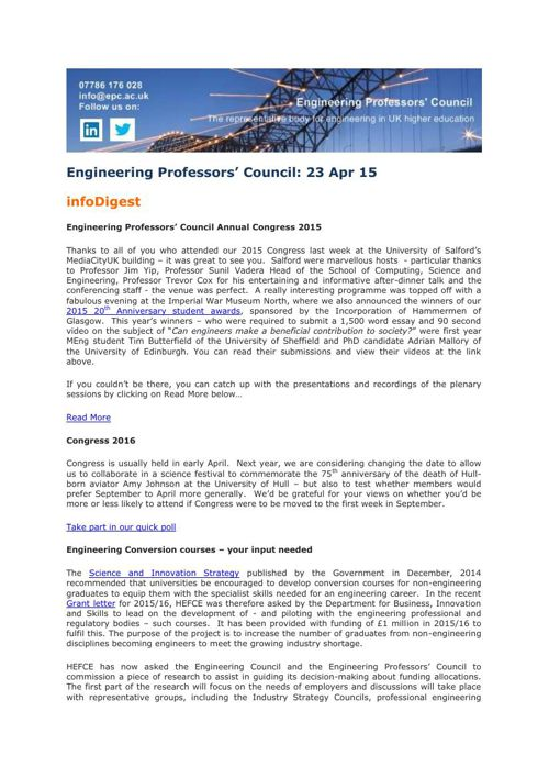 Engineering Professors' Council infoDigest 23 Apr 15