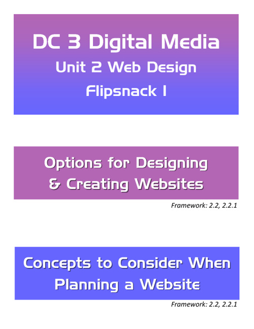 DC3 Unit 2 Web Design Part 1