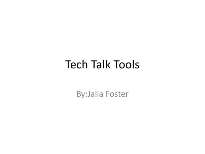 Tech Talk Tools