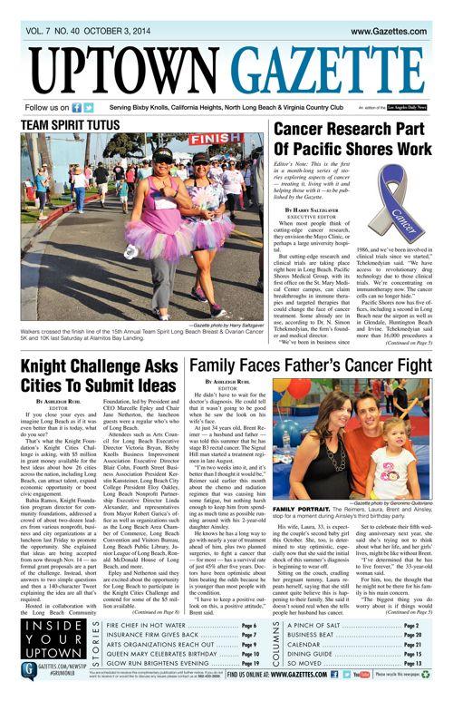 Uptown Gazette  |  October 3, 2014