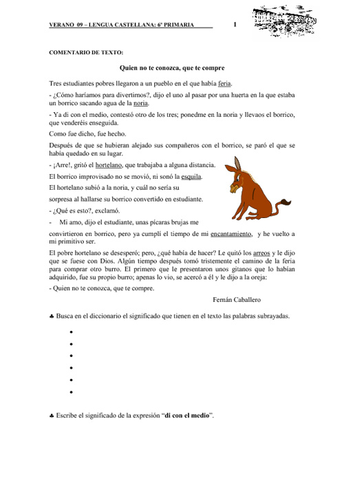 Cuaderno de actividades de Lengua