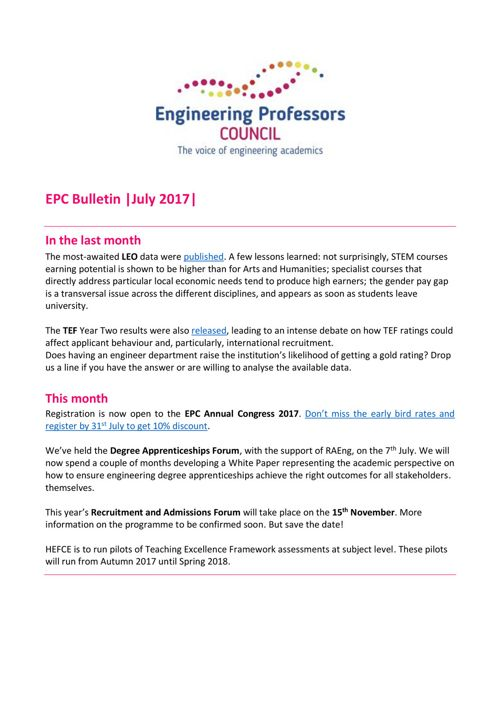 Engineering Professors' Council Bulletin July 2017