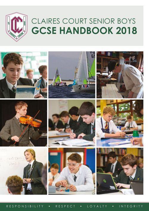 Claires Court Senior Boys GCSE Handbook 2018