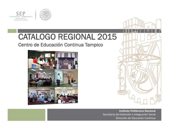Catalogo Regional CEC Tampico 2015