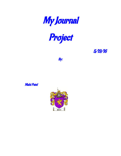 My Journal Project