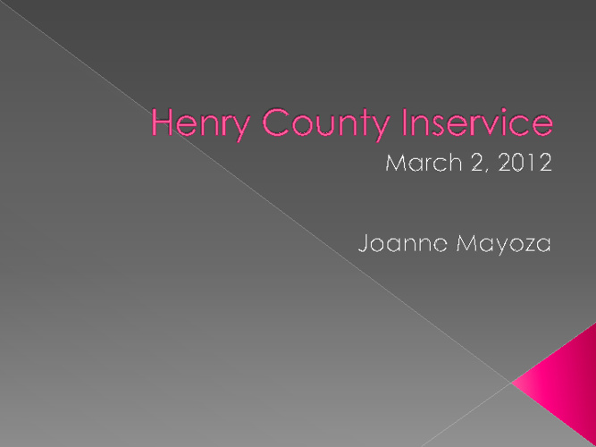 Henry County Inservice