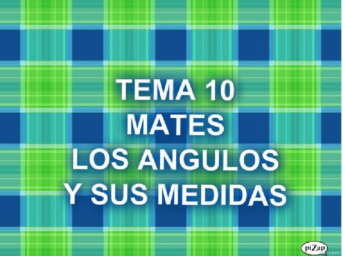 TEMA 10 MATEMATICAS