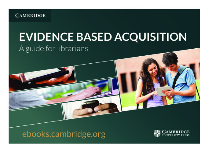 2016 Evidence Based Acquisition leaflet (global)