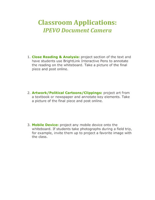 IPEVO Document Camera