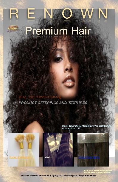 RENOWN PREMIUM HAIR CATALOG VOLUME 1