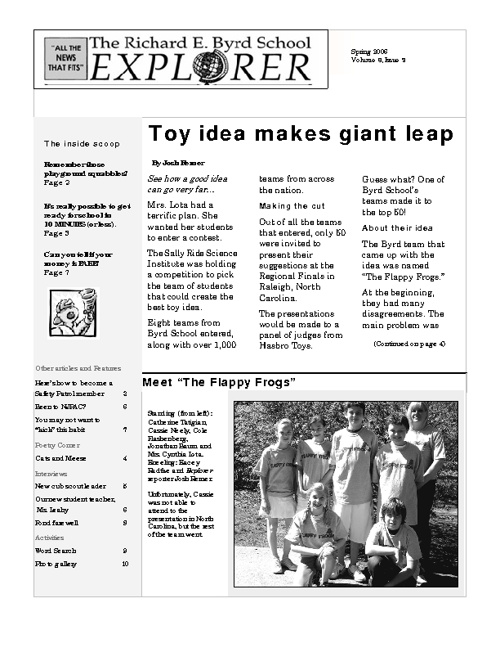 Spring 2006-Toy Idea Makes Giant Leap