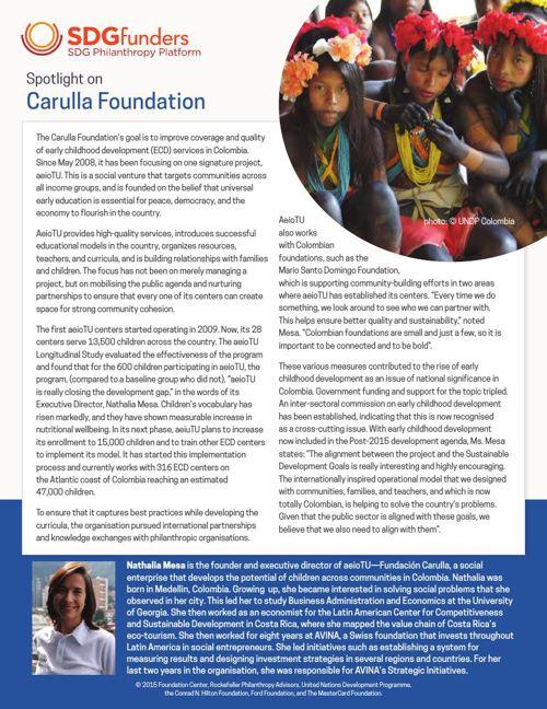 SDG Funders - Fundación Carulla