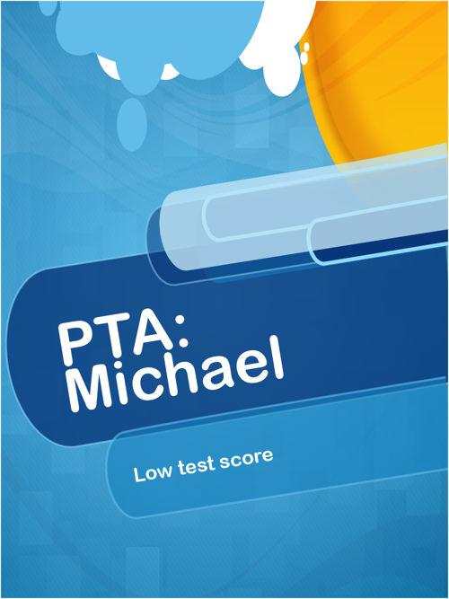 Michael (low test scores)