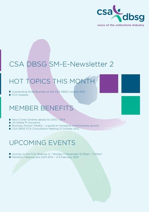 CSA DBSG SM-E-Newsletter 2